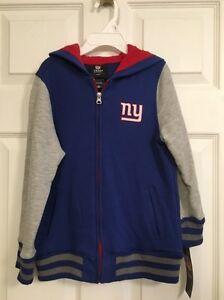 NEW NY GIANTS YOUTH KIDS SIZE 6X NFL TEAM APPAREL HOODIE-JACKET