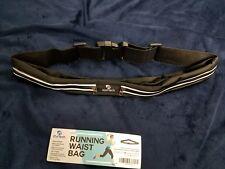 Adult running belt igottech with waist bag technology pouches black reflective