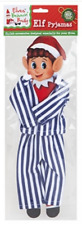 Naughty Elf Striped Pyjamas Elves Behavin' Badly On The Shelf Blue Or Pink