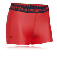 Under Armour Womens Heatgear Short Running Tight Red Sports Breathable