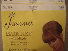 Jac-o-net Hair Net #255 Nylon with Elastic Fine Mesh Black US Seller