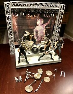 Metallica action figures on stage with Lights and Sound Working