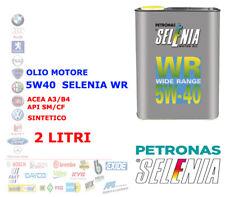 OLIO MOTORE AUTO DIESEL BENZINA SELENIA WR 5W40 2 LT ACEA A3/B4 API SM/CF SYNT