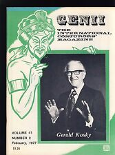 Gerald Kosky Genii Magicians Magazine Feb 1977 - contents in post
