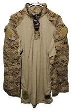 USMC Desert MARPAT Frog Combat Longsleve Shirt Size Medium Long New With Tag