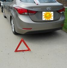 Emergency Roadside Safety Traffic Triangles Large Foldable 2-Pack