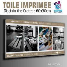 TOILE IMPRIMEE 60x30 cm - IMPRESSION SUR TOILE - DITC-04 - DEEJAY RECORDS DIGGIN
