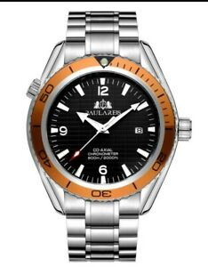 Mens Automatic Mechanical homage watch sea ocean UK Orange Diver