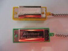 2 alte Miniatur- Mundharmonikas , Akkordeons aus Klingthal , Fabriqueen RDA  !