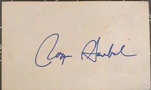 Roger Staubach Autographed 3x5 Card Dallas Cowboys HOF Legend