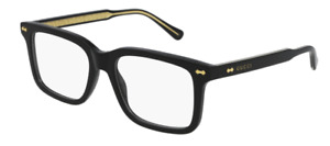 Authentic Gucci GG 0914O 001 Black Rectangle Men's Eyeglasses