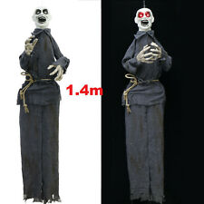 Animated Life Size Zombie Laugh Scare Light Up Hanging Halloween Prop Decoration
