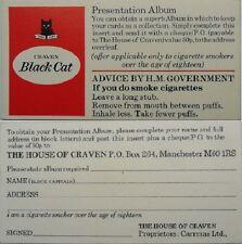CARRERAS B'CAT *PRESENTATION ALBUM CARD* c.1976 *VG*