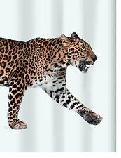 léopard beige noir rideau de douche en tissu 180 x 200 cm.