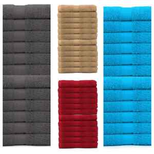 12 X Face Cloth Towels Flannels 100% Egyptian Combed Cotton Wash Cloths 500 GSM