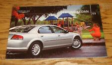 Original 2003 Chrysler Sebring Sedan Deluxe Sales Brochure 03