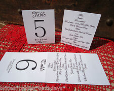 Kraft White Table Numbers MENU 1 to 10 Tent Style Wedding Birthday Personalised