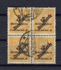 German _ Reich, Dienst, Inflation: Michel Number 85 Postmarked, 4er Block