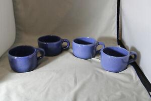 Lot of 4, Bybee, 8 ounce  Blue Mugs,