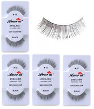 6 Pairs AmorUs 100% Human Hair False Eyelashes # 12 compare Red Cherry