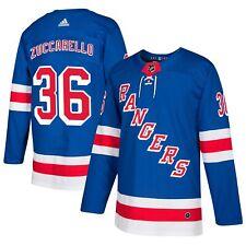 Mens New York Rangers Mats Zuccarello #36 Authentic Adidas Pro Blue Jersey S 46