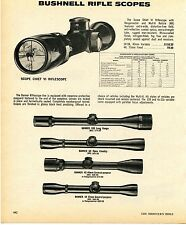 1976 Print Ad of Bushnell Scopechief VI Banner Rifle Scope
