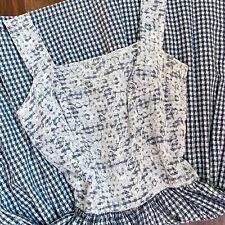 50s Dress Cotton & Lace Gingham Sundress Vintage 1950s Check Fit Flare Skirt