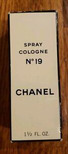 Rare VINTAGE 1980's Woman's CHANEL No 19 COLOGNE  SPRAY 1.7 OZ/ 50 ML NIB sealed