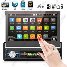 7'' Single 1Din In Dash Car Stereo Navigation GPS Lecteur MP3 HD Radio Bluetooth