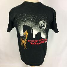 Rare Vintage 90s Marlboro Coyote Cowboy Trucker Motorcycle Pocket T Shirt