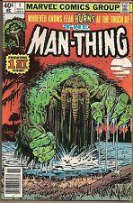 MAN-THING THE VOL 2 #1 MARVEL 11/79  REGENERATION & REBIRTH JIM MOONEY ART VG/FN