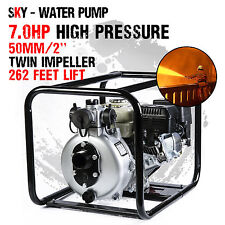 "New 2 Inch 2"" Petrol High Pressure Water Pump Transfer Fire Fighting Irrigation"