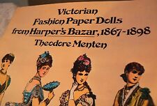 Vintage Dress Victorian Paper DOLL Fashion Designs Dresses Book 1867-1898