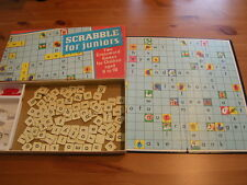 SPEARS Scrabble For Juniors - Vintage Toy Board Game 1973 - Complete Boxed - VGC