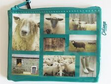Sheep Small Zip Purse PVC Coated and Plastic Lined Interior Various Breeds