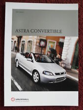 VAUXHALL Astra Convertibles UK Market brochure 2001 1.8i & 2.2i Bertone interest