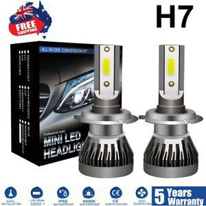 2x H7 LED Headlight Kit 30000LM Bulb Hi/Lo Beam White Light 6000K Globe Bulb AU