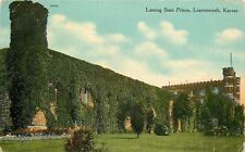 Leavenworth Kansas~Lansing State Prison~Ivy Covered Walls~Castle Towers~1908 PC