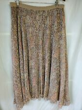 Maeve Midi Glimmered Metallic Skirt Sz XL Asymmetric Floral Gold Anthropologie