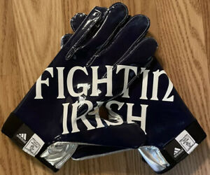 NOTRE DAME FOOTBALL ADIDAS TEAM ISSUED 2012 FIGHTING IRISH GLOVES
