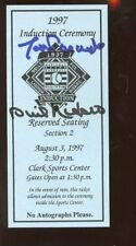 1997 Baseball Hall of Fame Induction Ticket Tom Lasorda Phil Niekro Autographed