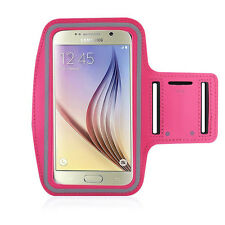 Running High Quality Adjustable Neoprene Armband Tie Samsung Galaxy S6 Hot Pink
