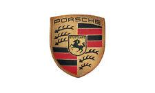 Porsche Crest Sew On Patch Colored Crest Black Red Gold Porsche Design Selection