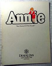 ANNIE Best Musical of the Decade Desert Inn Las Vegas Martin Charnin iGreat Cond