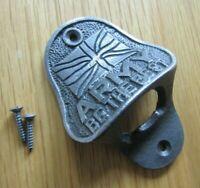 BOTTLE OPENER Cast iron Vintage rustic old Wall mounted Beer Bottle Opener