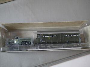 BUB 1:87 Rechsbahn Reichspost Remorque Avec Wagon Du Musée (K17)