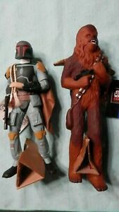 Star Wars Applause figures: Boba Fett and Chewbacca