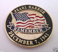 PEARL HARBOR REMEMBER WORLD WAR II Military Veteran Hat Pin P14981 EE