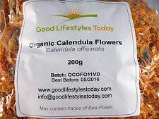 *BULK BUY*  200g Organic Calendula Officinalis - Dried Flower Heads exp 06/2019