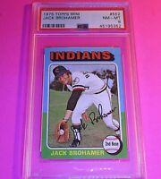 1975 Topps Mini #552 Jack Brohamer Indians PSA 8 NM-MT NmMt
